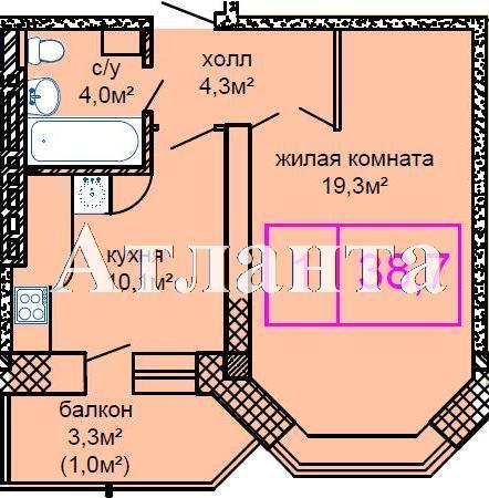 Продается 1-комнатная квартира в новострое на ул. Костанди — 26 500 у.е. (фото №5)
