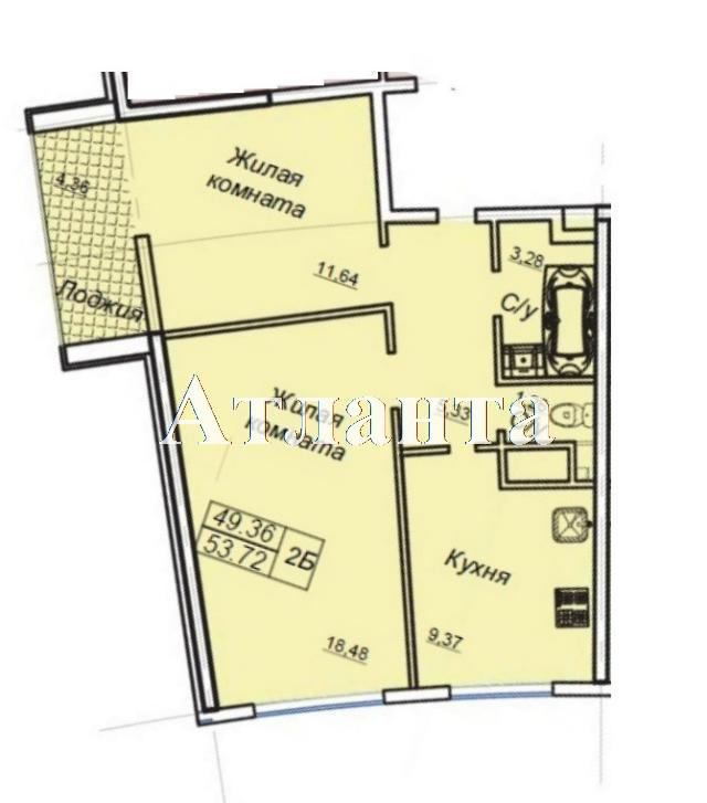 Продается 2-комнатная квартира в новострое на ул. Генуэзская — 53 600 у.е. (фото №5)