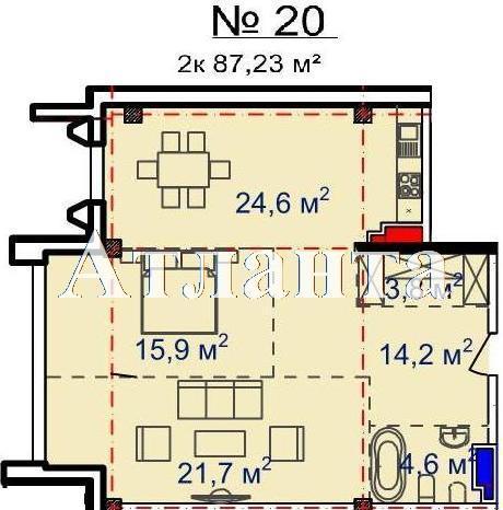 Продается 2-комнатная квартира в новострое на ул. Большая Арнаутская — 104 010 у.е. (фото №2)