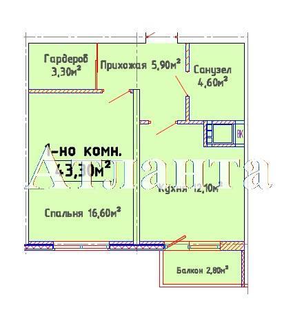 Продается 1-комнатная квартира в новострое на ул. Люстдорфская Дорога — 32 680 у.е.