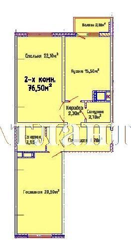 Продается 2-комнатная квартира в новострое на ул. Люстдорфская Дорога — 58 890 у.е. (фото №3)