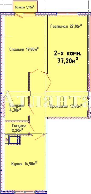Продается 2-комнатная квартира в новострое на ул. Люстдорфская Дорога — 65 620 у.е. (фото №4)