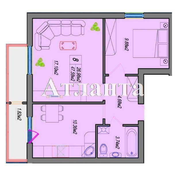 Продается 2-комнатная квартира в новострое на ул. Швыгина Ген. — 40 800 у.е. (фото №3)