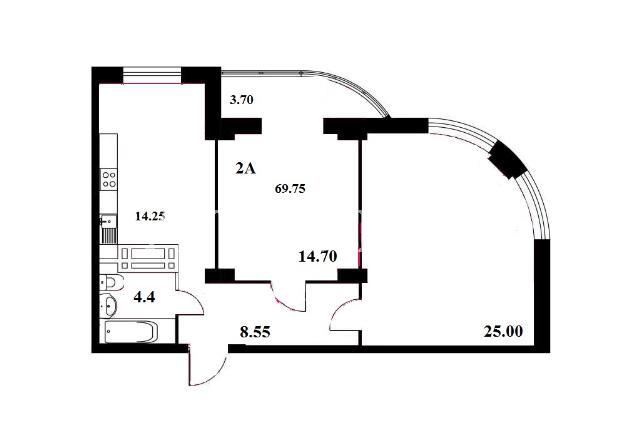 Продается 2-комнатная квартира на ул. Школьная — 34 500 у.е. (фото №3)
