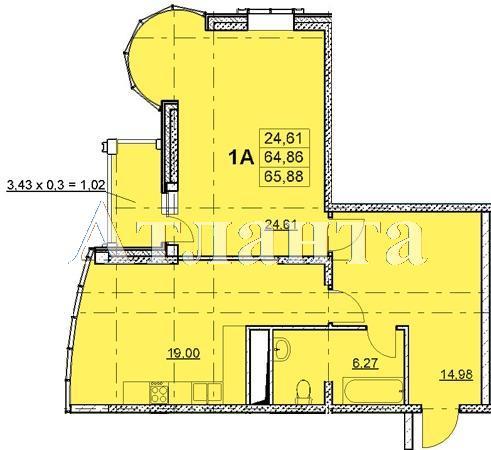 Продается 2-комнатная квартира в новострое на ул. Гагаринское Плато — 62 700 у.е. (фото №2)