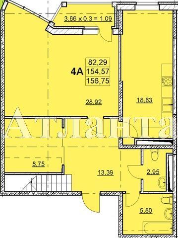 Продается 4-комнатная квартира в новострое на ул. Гагаринское Плато — 160 550 у.е. (фото №4)