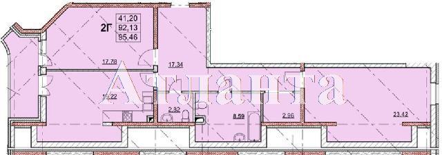 Продается 2-комнатная квартира в новострое на ул. Гагаринское Плато — 94 720 у.е.