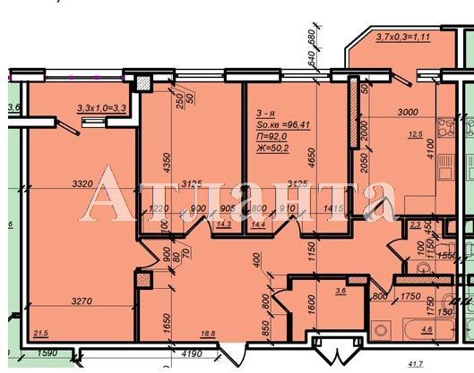 Продается 3-комнатная квартира в новострое на ул. Дюковская — 66 500 у.е. (фото №3)