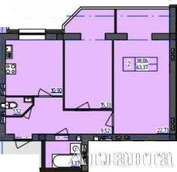 Продается 2-комнатная квартира в новострое на ул. Бочарова Ген. — 25 700 у.е.