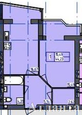 Продается 1-комнатная квартира в новострое на ул. Бочарова Ген. — 19 700 у.е. (фото №2)