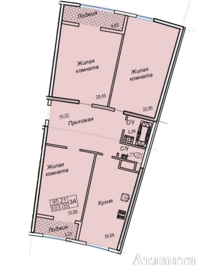 Продается 3-комнатная квартира в новострое на ул. Генуэзская — 100 700 у.е.