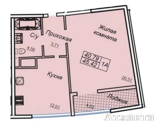 Продается 1-комнатная квартира в новострое на ул. Генуэзская — 45 200 у.е. (фото №3)