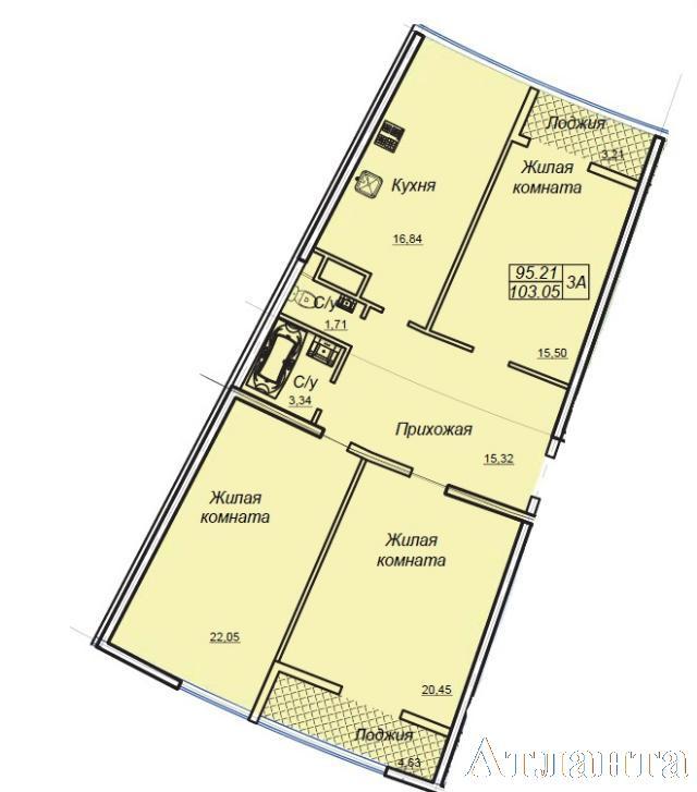 Продается 3-комнатная квартира в новострое на ул. Генуэзская — 95 600 у.е.