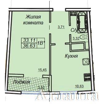 Продается 1-комнатная квартира в новострое на ул. Генуэзская — 34 900 у.е. (фото №3)