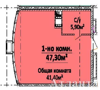 Продается 1-комнатная квартира в новострое на ул. Гагарина Пр. — 40 000 у.е. (фото №2)