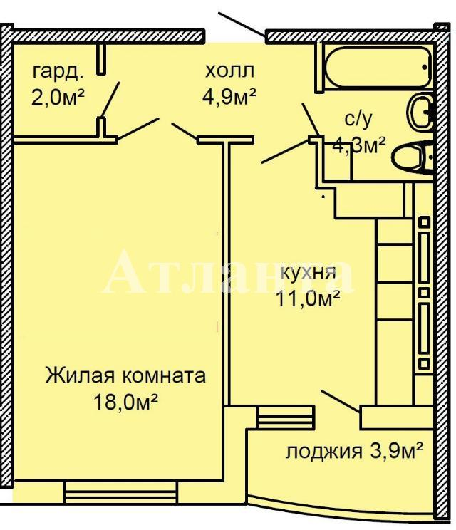 Продается 1-комнатная квартира в новострое на ул. Костанди — 40 000 у.е. (фото №2)