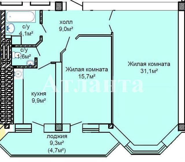 Продается 2-комнатная квартира в новострое на ул. Костанди — 57 780 у.е. (фото №2)