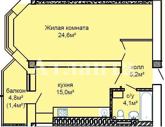 Продается 1-комнатная квартира в новострое на ул. Костанди — 49 400 у.е. (фото №2)