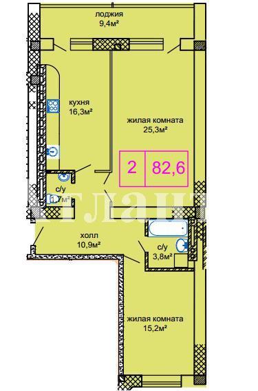 Продается 2-комнатная квартира в новострое на ул. Костанди — 63 050 у.е. (фото №4)