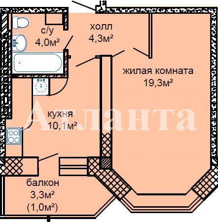 Продается 1-комнатная квартира в новострое на ул. Костанди — 33 000 у.е. (фото №2)