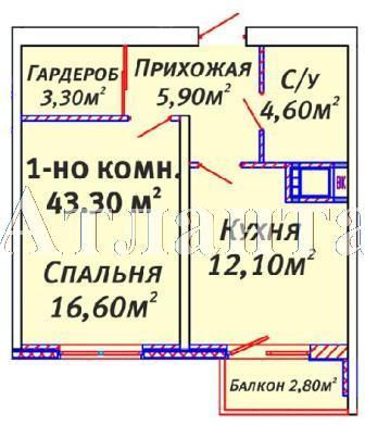 Продается 1-комнатная квартира в новострое на ул. Люстдорфская Дорога — 36 380 у.е.