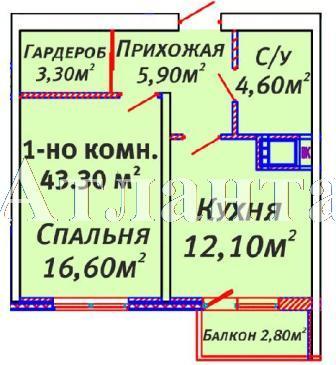 Продается 1-комнатная квартира в новострое на ул. Люстдорфская Дорога — 36 380 у.е. (фото №3)