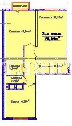 Продается 2-комнатная квартира в новострое на ул. Люстдорфская Дорога — 55 230 у.е. (фото №2)