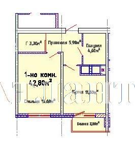 Продается 1-комнатная квартира в новострое на ул. Люстдорфская Дорога — 35 190 у.е.