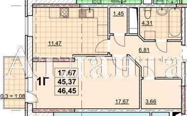 Продается 1-комнатная квартира в новострое на ул. Жаботинского — 35 160 у.е. (фото №4)