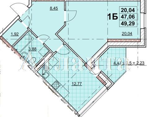 Продается 1-комнатная квартира в новострое на ул. Жаботинского — 56 240 у.е. (фото №2)