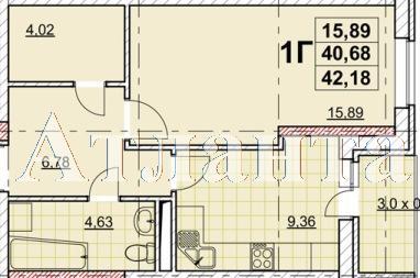 Продается 1-комнатная квартира в новострое на ул. Жаботинского — 31 280 у.е.