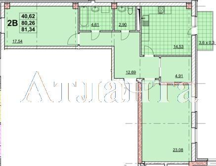 Продается 2-комнатная квартира в новострое на ул. Жаботинского — 59 200 у.е.