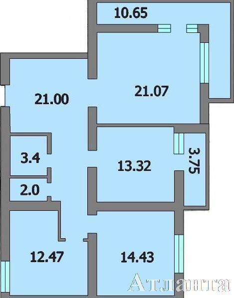 Продается 3-комнатная квартира в новострое на ул. Генерала Цветаева — 43 240 у.е.