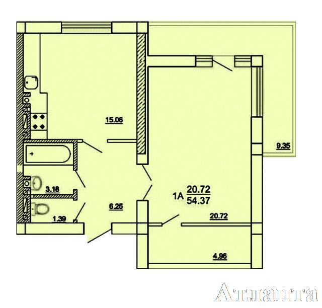 Продается 1-комнатная квартира в новострое на ул. Генерала Цветаева — 26 090 у.е.
