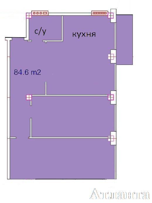 Продается 3-комнатная квартира в новострое на ул. Греческая — 78 530 у.е. (фото №3)