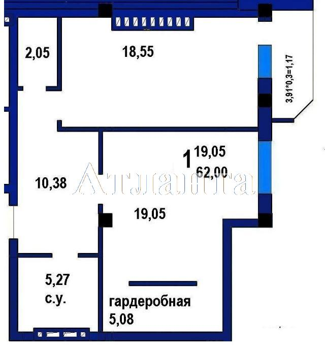 Продается 1-комнатная квартира в новострое на ул. Софиевская — 51 400 у.е. (фото №4)