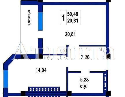 Продается 1-комнатная квартира в новострое на ул. Софиевская — 39 900 у.е.