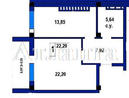 Продается 1-комнатная квартира в новострое на ул. Софиевская — 41 700 у.е. (фото №4)