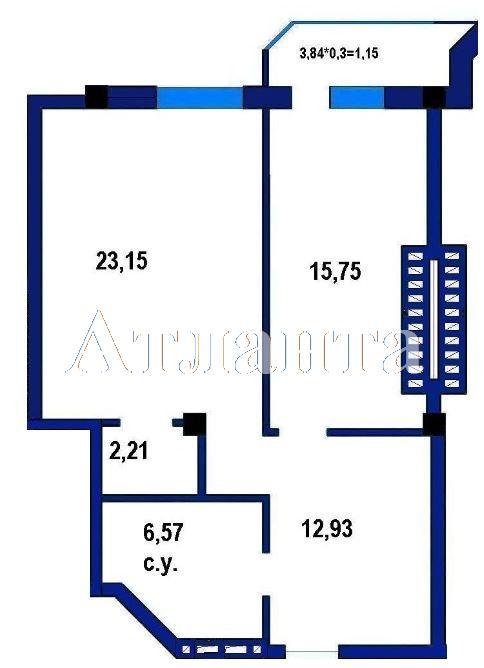 Продается 1-комнатная квартира в новострое на ул. Софиевская — 43 200 у.е. (фото №6)