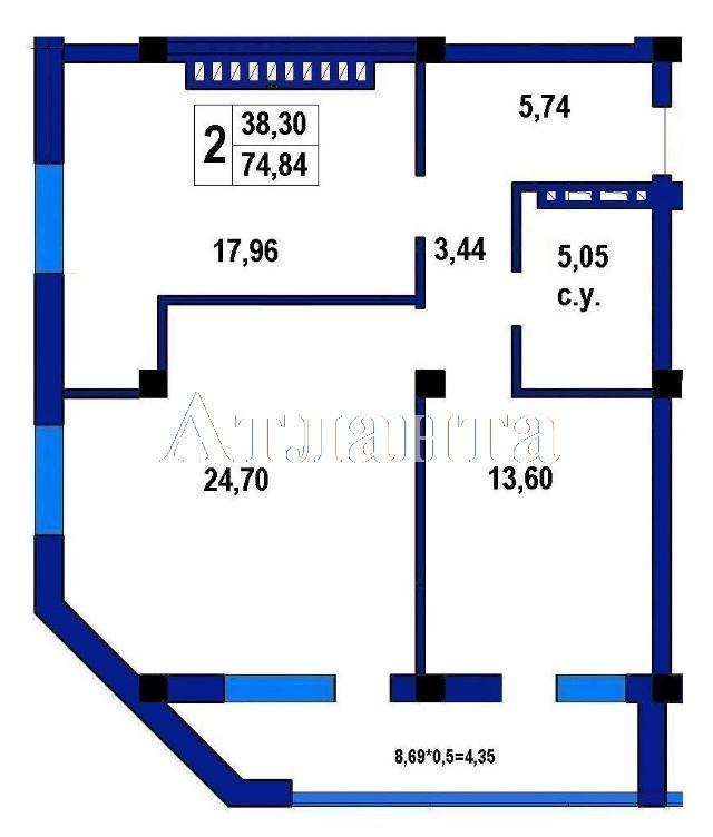 Продается 1-комнатная квартира в новострое на ул. Софиевская — 67 800 у.е.