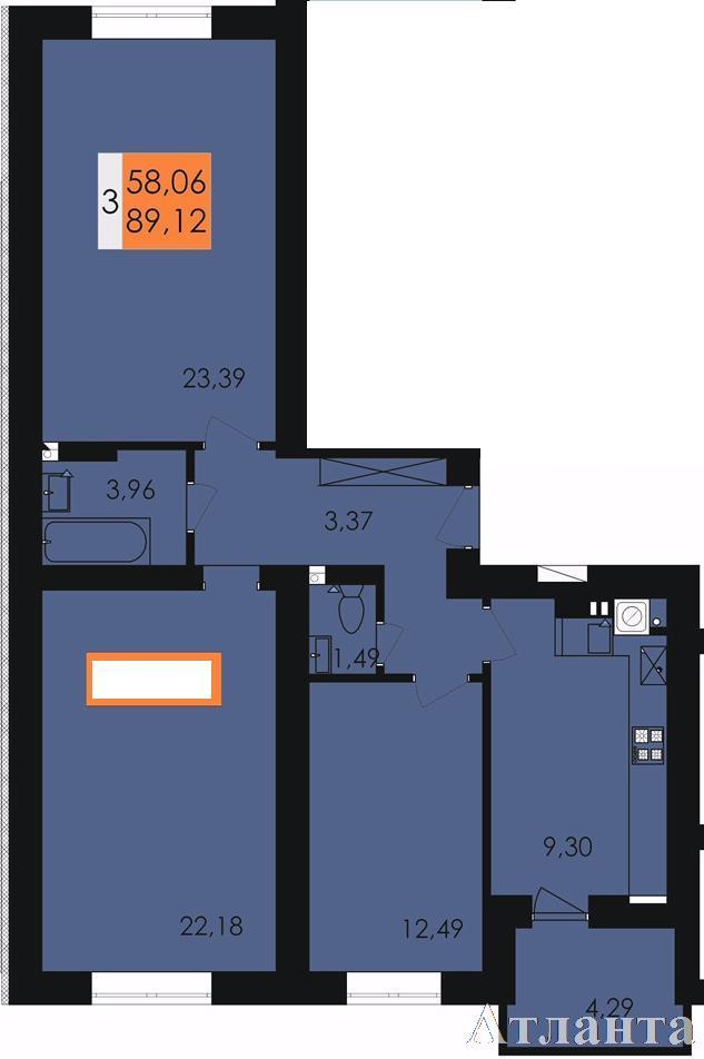 Продается 3-комнатная квартира в новострое на ул. Заболотного Ак. — 48 700 у.е.