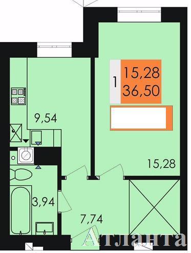 Продается 1-комнатная квартира в новострое на ул. Заболотного Ак. — 20 200 у.е.