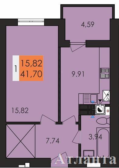Продается 1-комнатная квартира в новострое на ул. Заболотного Ак. — 23 100 у.е.