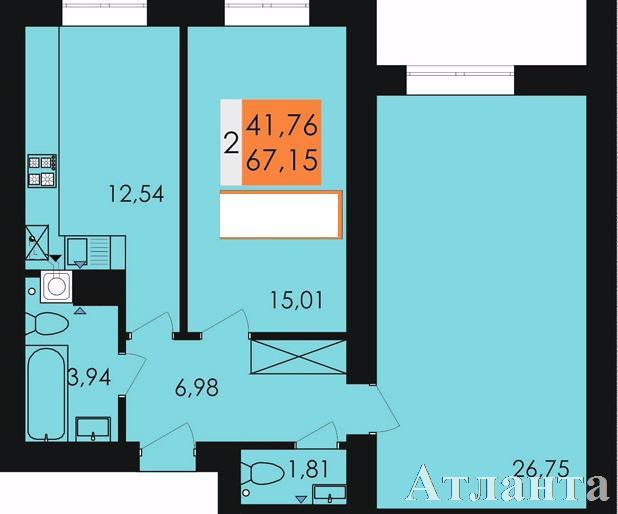 Продается 2-комнатная квартира в новострое на ул. Заболотного Ак. — 32 200 у.е.