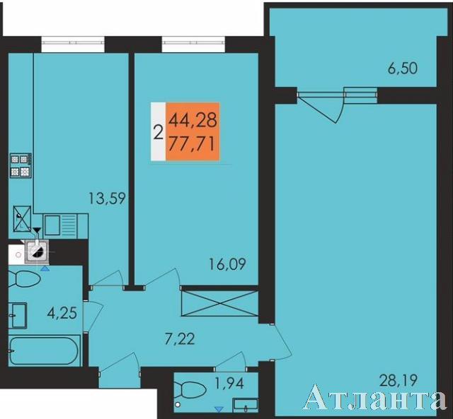 Продается 2-комнатная квартира в новострое на ул. Заболотного Ак. — 47 800 у.е.