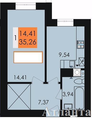 Продается 1-комнатная квартира в новострое на ул. Заболотного Ак. — 19 500 у.е.