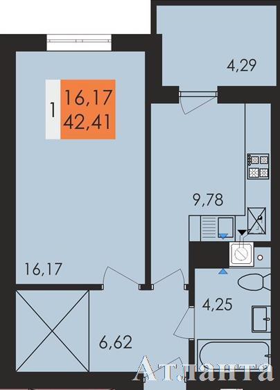 Продается 1-комнатная квартира в новострое на ул. Заболотного Ак. — 23 800 у.е.