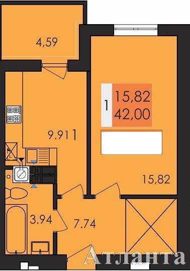 Продается 1-комнатная квартира в новострое на ул. Заболотного Ак. — 23 200 у.е.