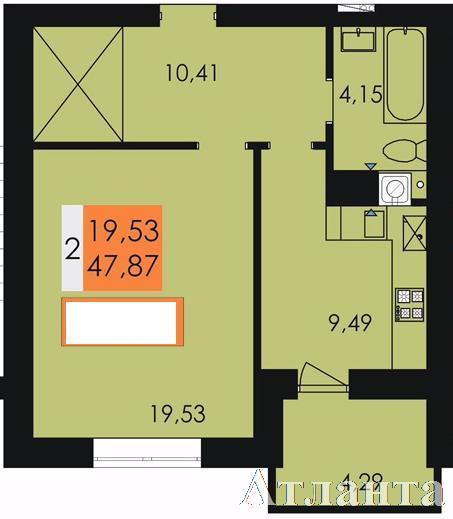 Продается 1-комнатная квартира в новострое на ул. Заболотного Ак. — 24 890 у.е.