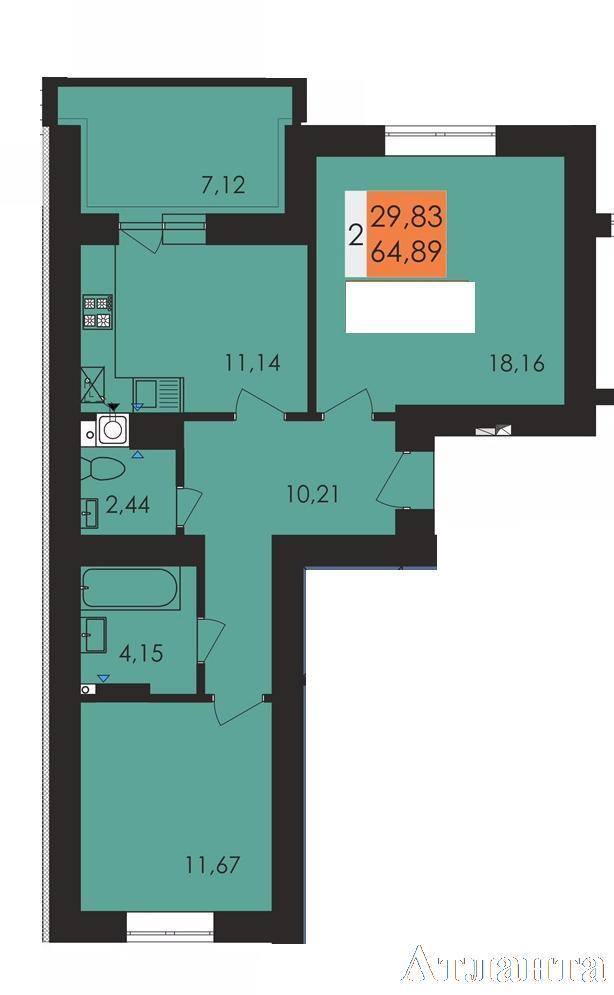 Продается 2-комнатная квартира в новострое на ул. Заболотного Ак. — 31 200 у.е.